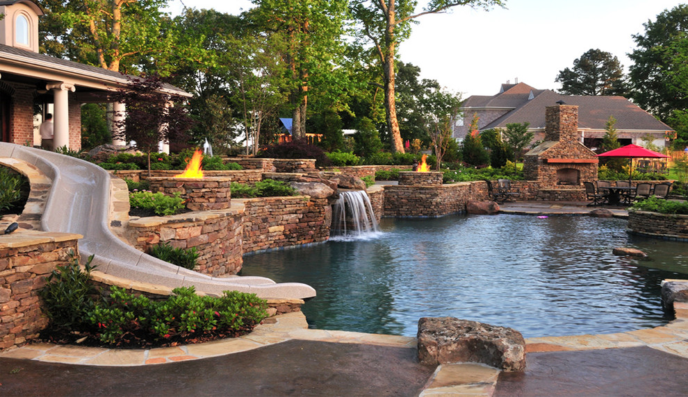 The top 5 most stunning hardscape designs in nashville tn for Backyard pool ideas pictures