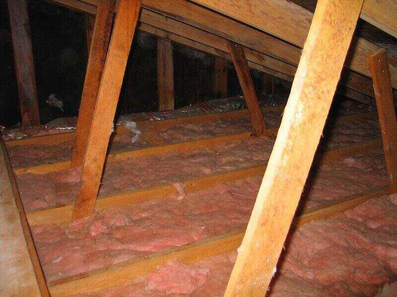 Attic rafters and insulation